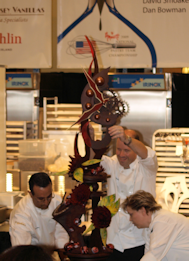 Team Dewitt Placing Chocolate Showpiece