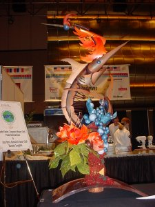 Team USA chocolate showpiece